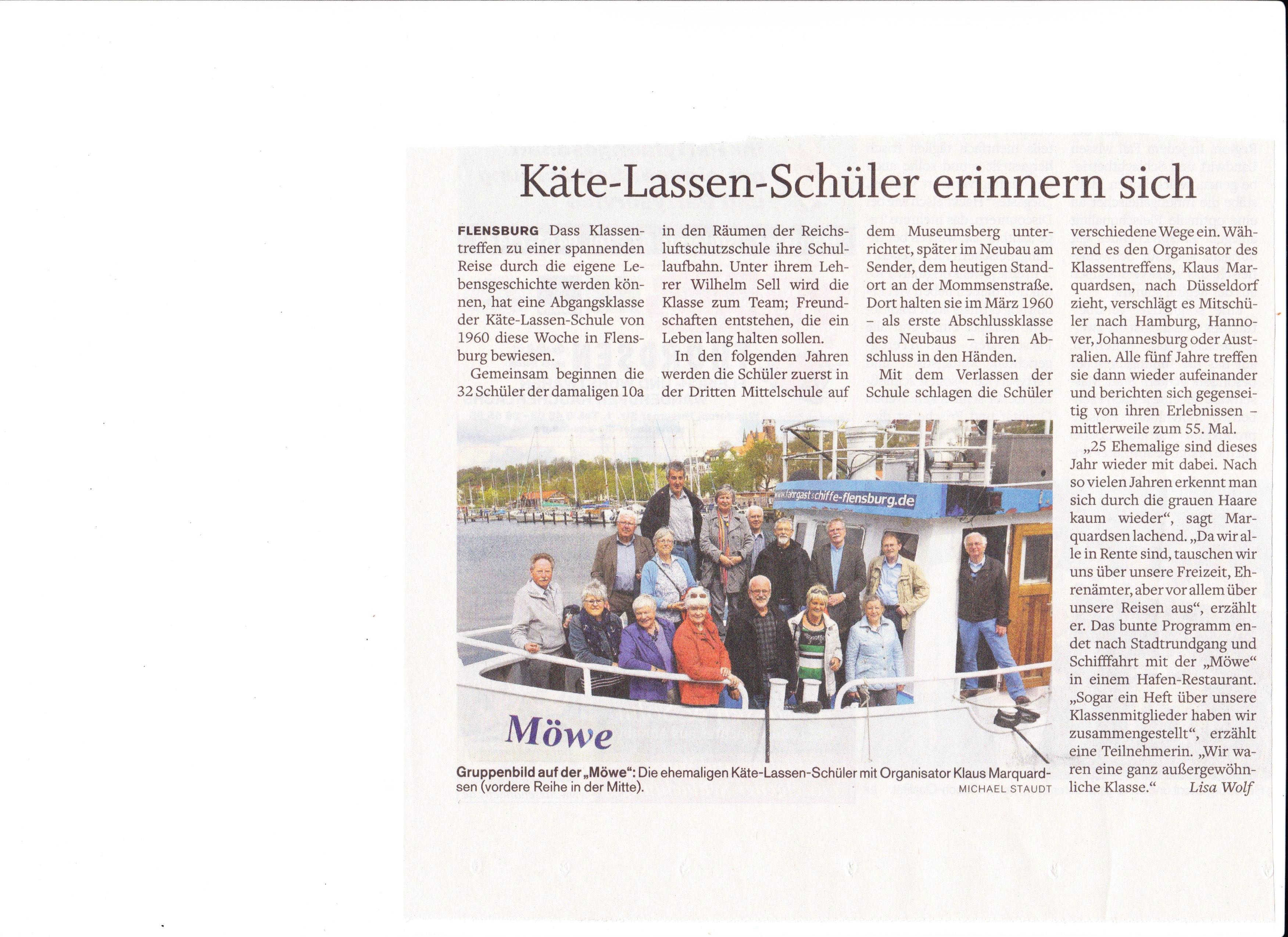 Flensburger Tageblatt v. 08.05.15