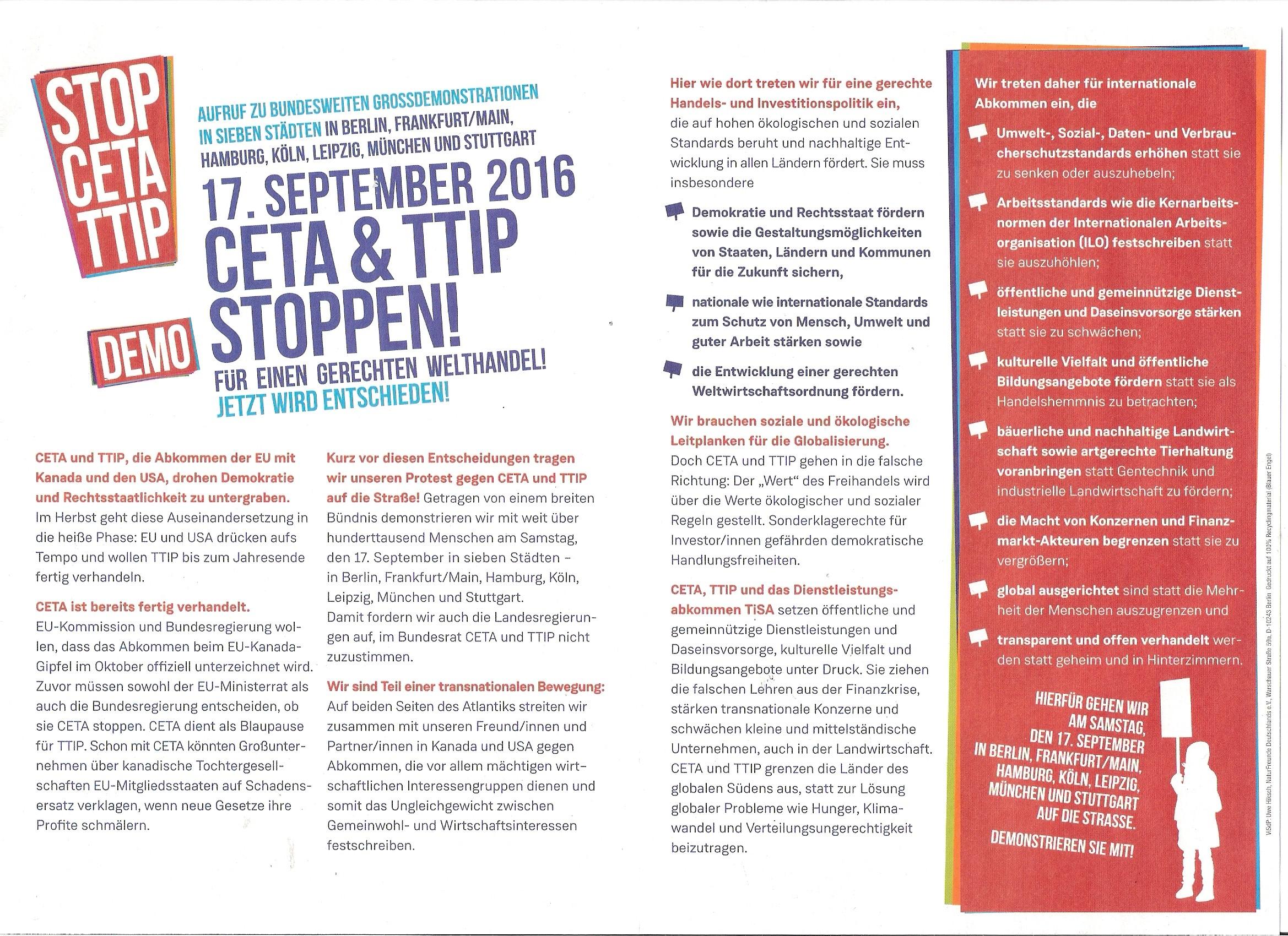 Demo gegen TTIP